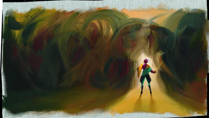Ilustración de 'La bella durmiente' del bosque', de Charles Perrault, Élodie Fondacci y Éric Puybaret