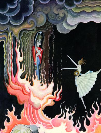 Ilustración del artista danés Kay Nielsen para 'El soldadito de plomo' (1924)