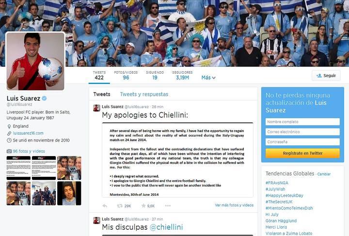 Mundial 2014: Luis Suárez presenta sus disculpas a
