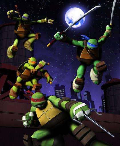 Imagen promocional de la nueva serie de Tv de 'Las tortugas Ninja'