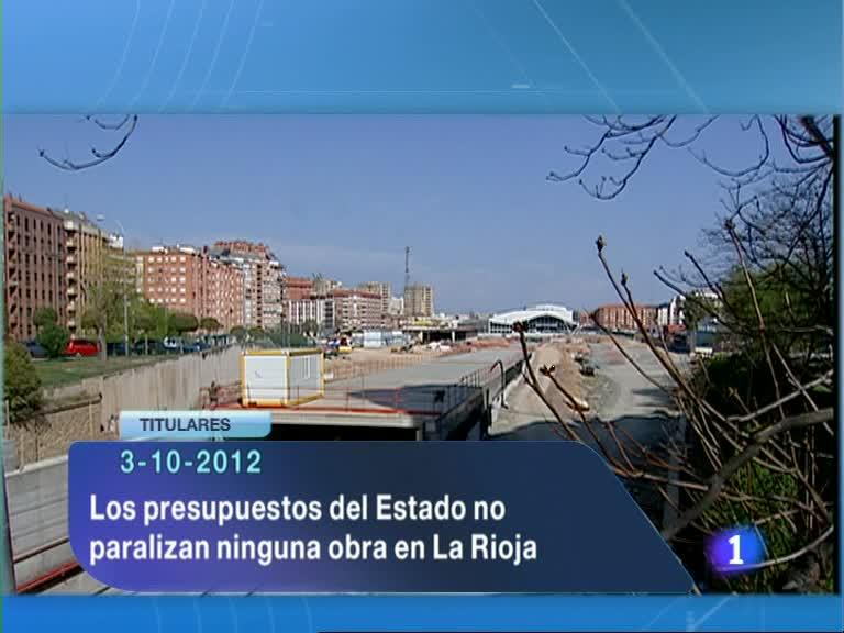 Informativo Telerioja - 03/10/12