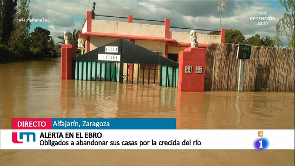 Inundaciones por la crecida del Ebro