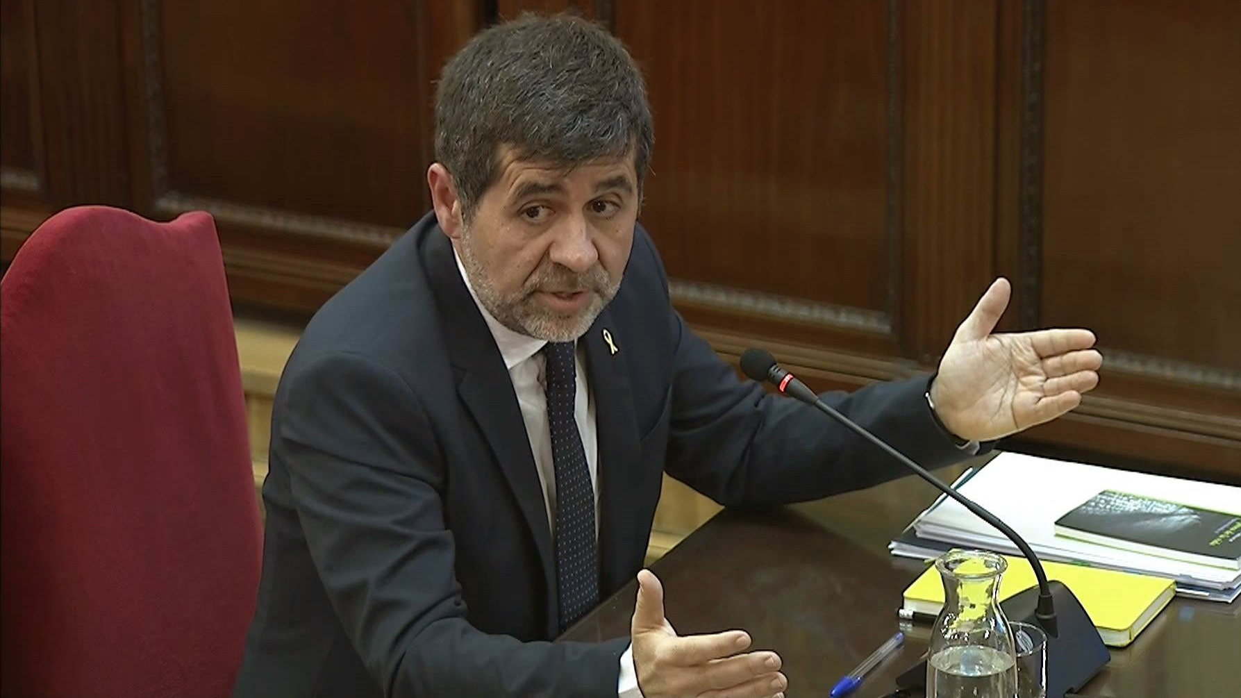 Juicio 'procés': Jordi Sánchez niega que hubiese violencia en las movilizaciones ante la Conselleria de Economía