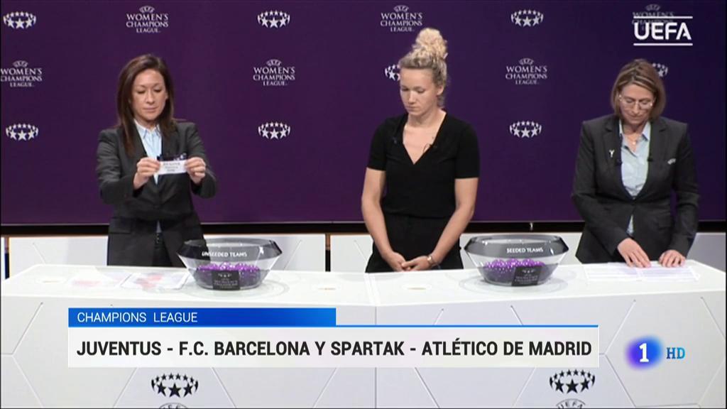 Juventus y ZFK Spartak, rivales de Barça y Atlético