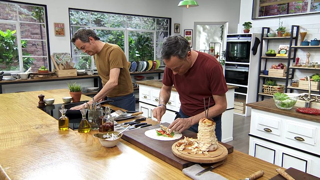 Torres en la cocina - Kebab de pollo y helado frito