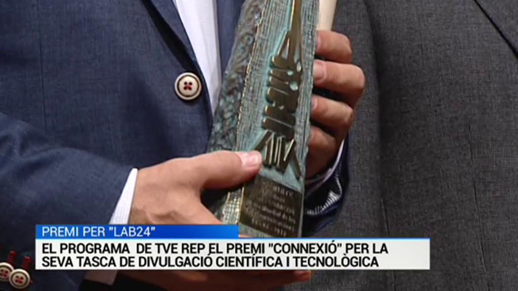 Lab24 - El programa de divulgación de la ciencia y la tecnología Lab24 de TVE, galardonado con el Pemio Connexió.