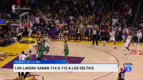 Los Lakers derrotan a los Celtics