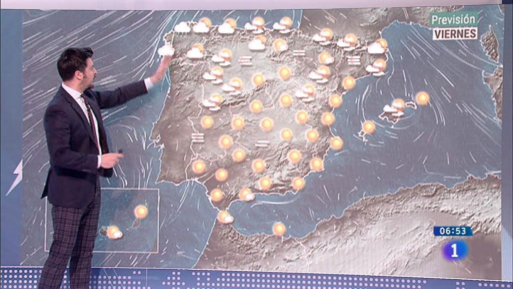 La llegada de un frente dejará hoy lluvias en el extremo norte peninsular