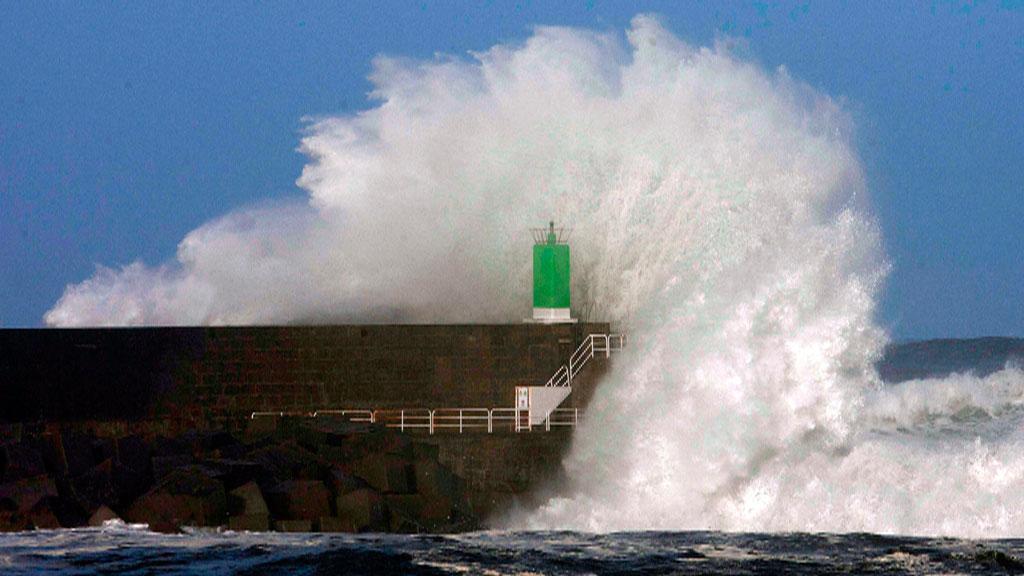 Lluvias fuertes y viento en el litoral gallego
