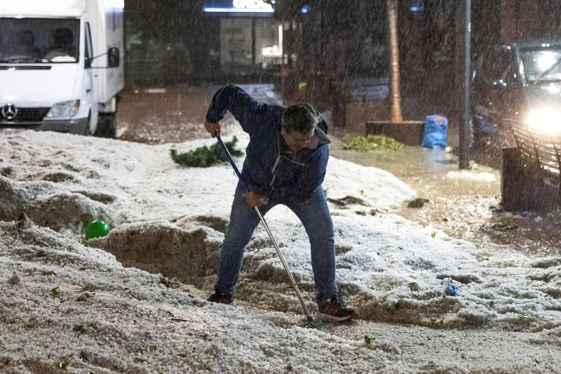 Lluvias torrenciales en Madrid