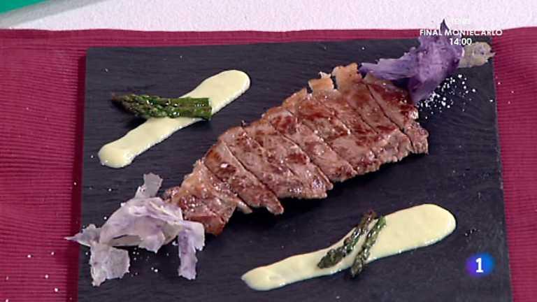 Cocina con Sergio - Lomo de ternera con crema de trigueros