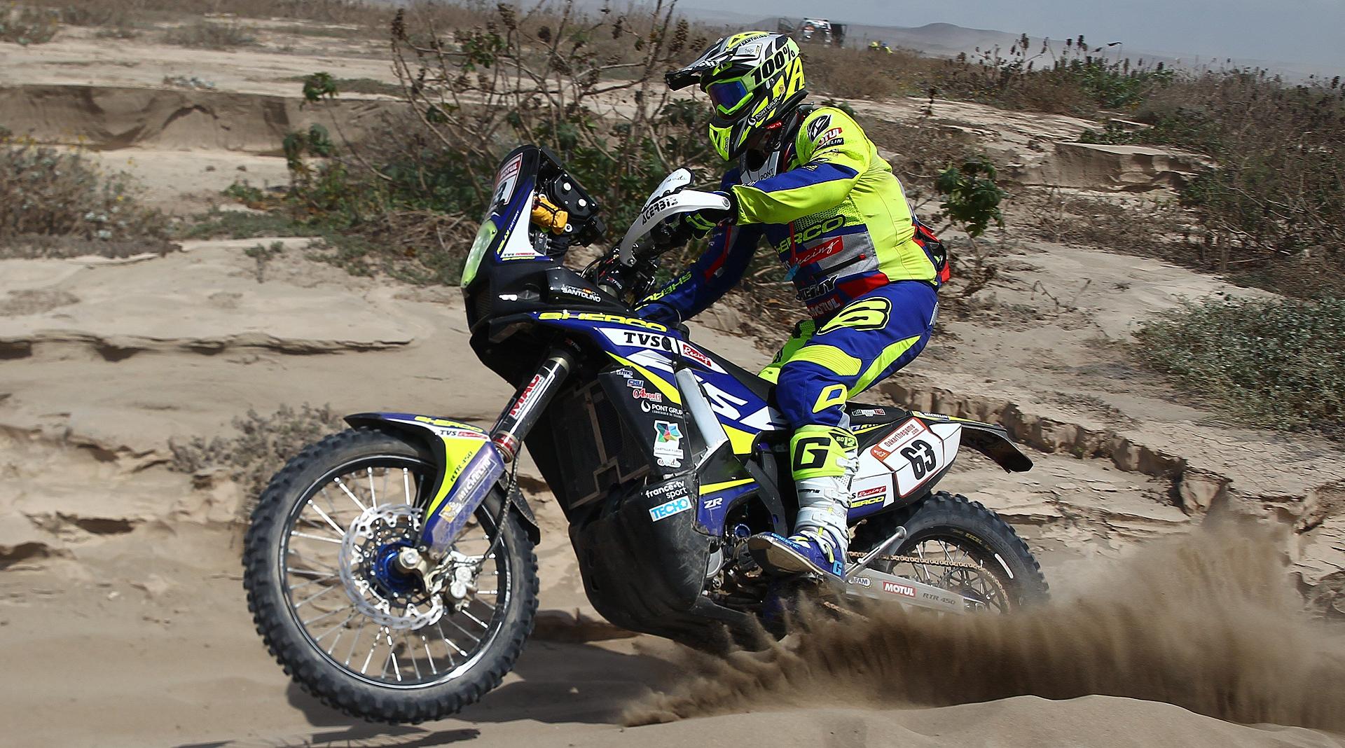 Lorenzo Santolino, el mejor motorista novato del Dakar