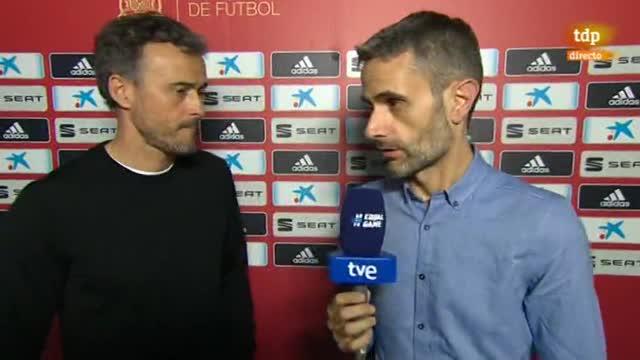 """Luis Enrique: """"He visto al equipo muy metido, una actitud casi perfecta"""""""
