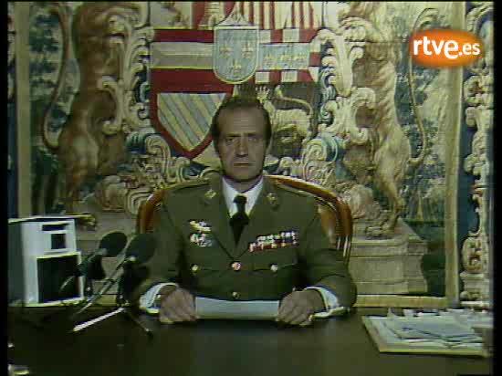 Archivo - Mensaje del rey Juan Carlos tras la intentona golpista del 23-F