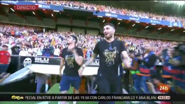Mestalla celebra la Copa del Rey del Valencia