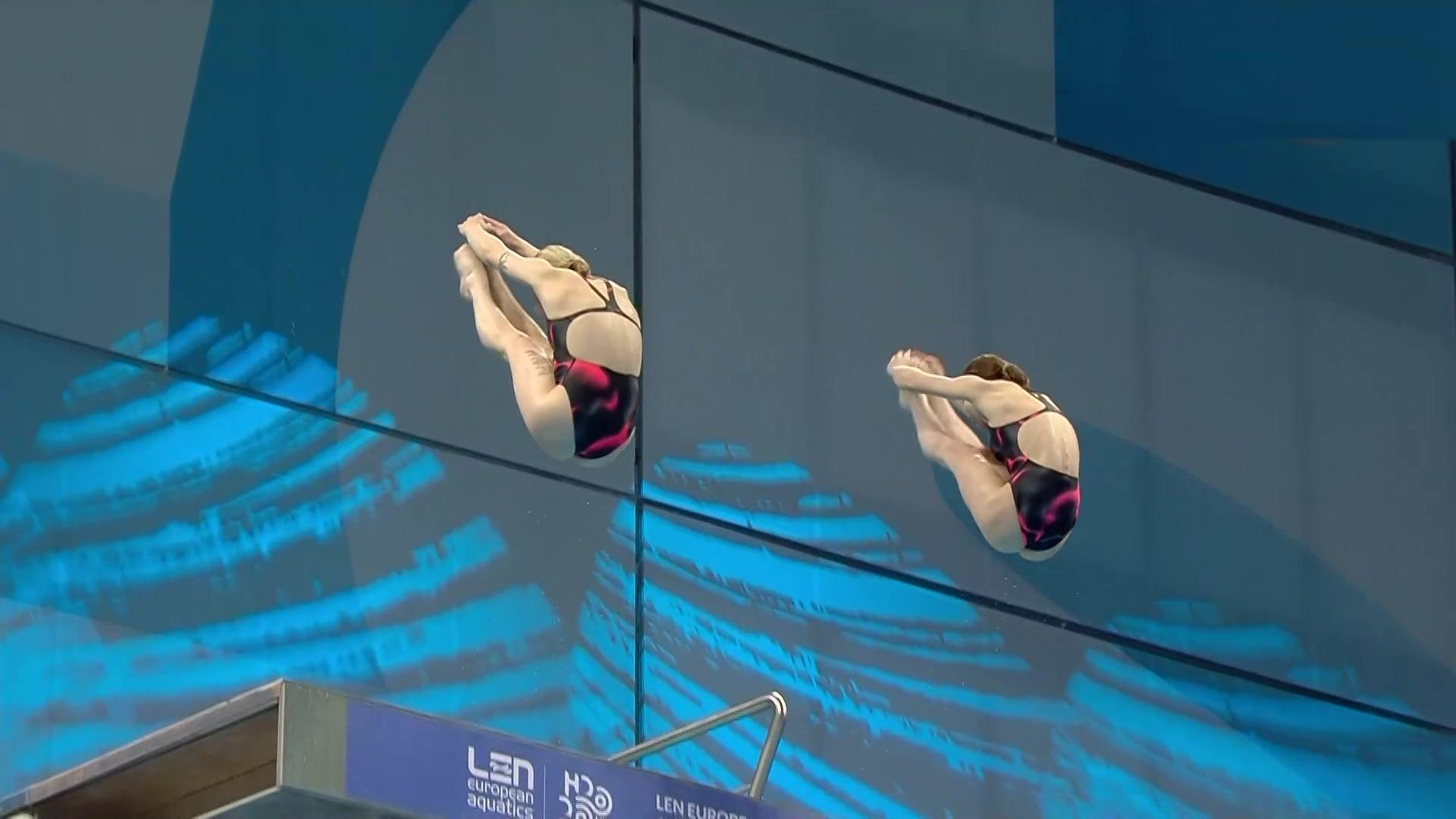 Campeonato de Europa. Saltos: Final 10 m sincroniz. femenino