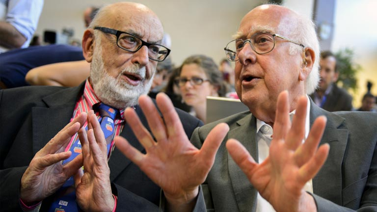 Los 'padres' del Bosón de Higgs, François Englert y Robert Higgs, obtienen el Nobel