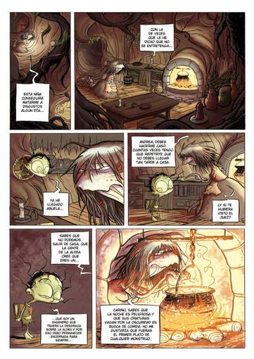 Página de 'Andrea Hojarasca', de Álex López
