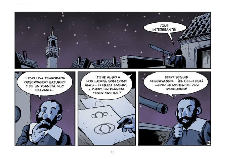 Página de 'Galileo, el mensajero de las estrellas', de Jordi Bayarri