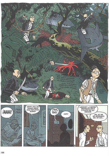Página de Theodore Poussin, de Frank Le Gall