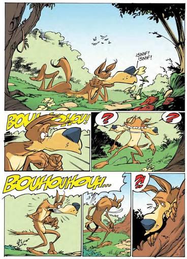 Página de 'Walter el lobo' de José Luis Munuera
