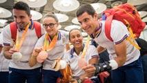 Los paralímpicos llegan a España con sus 31 medallas