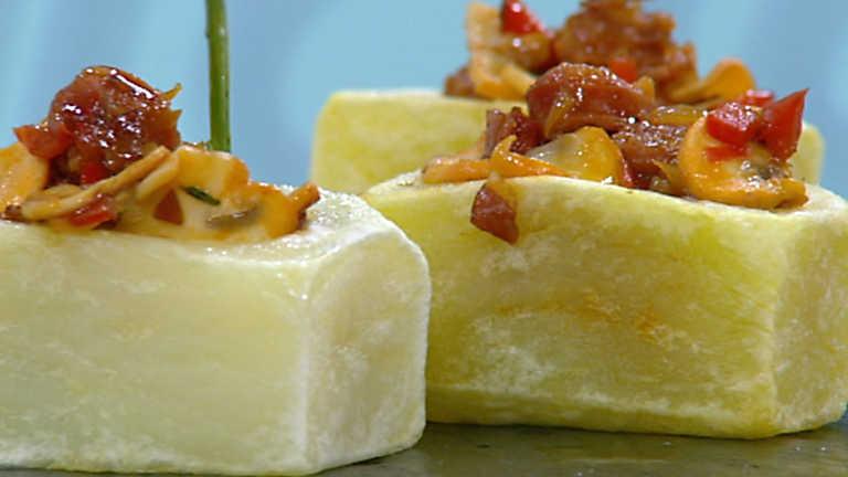 Cocina con Sergio - Patatas con chistorra y champiñones salteados
