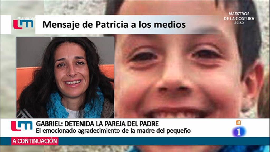 Patricia, madre de Gabriel, da las gracias a los medios