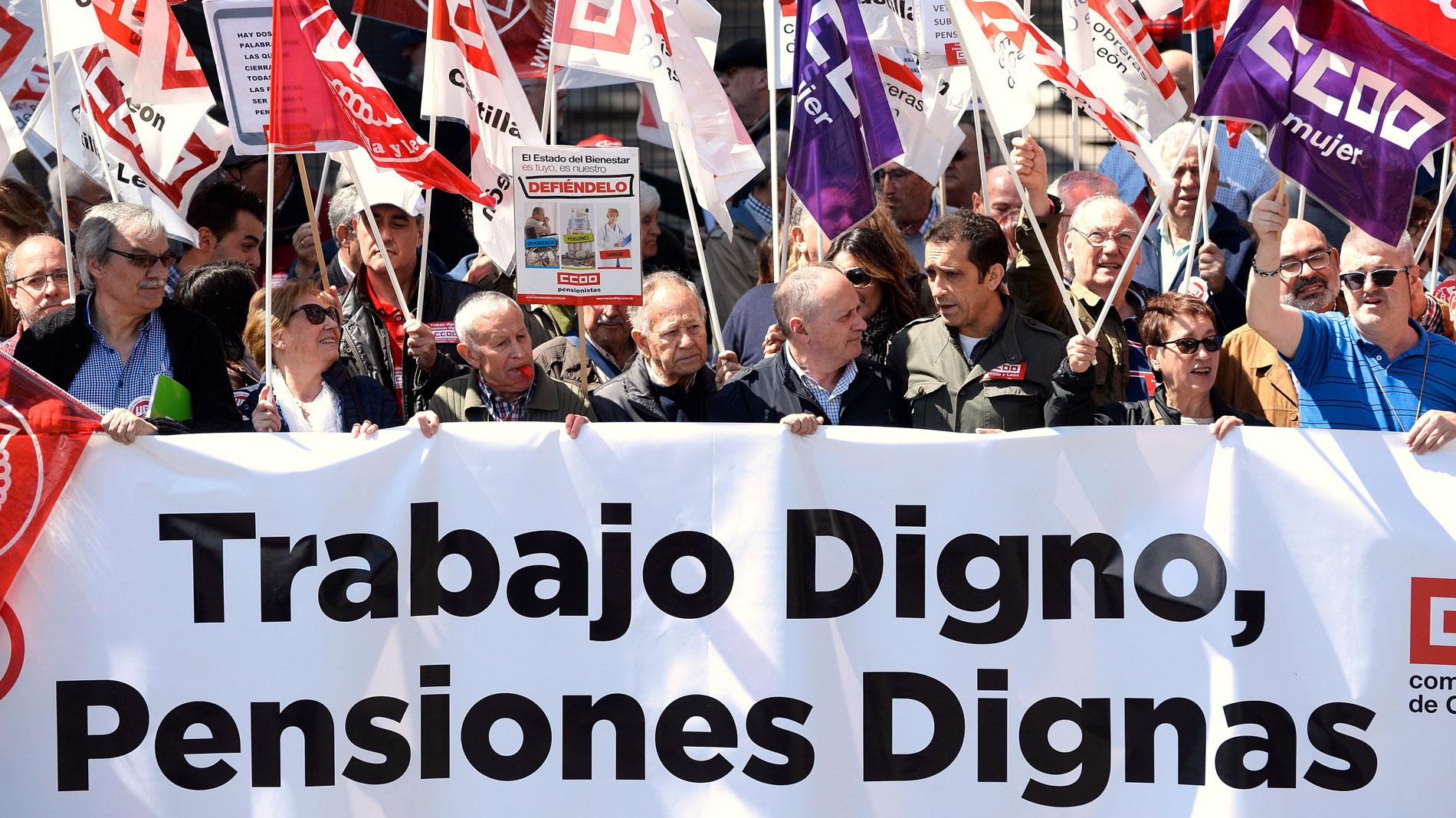 Los pensionistas vuelven a manifestarse para que se derogue la última reforma de 2013