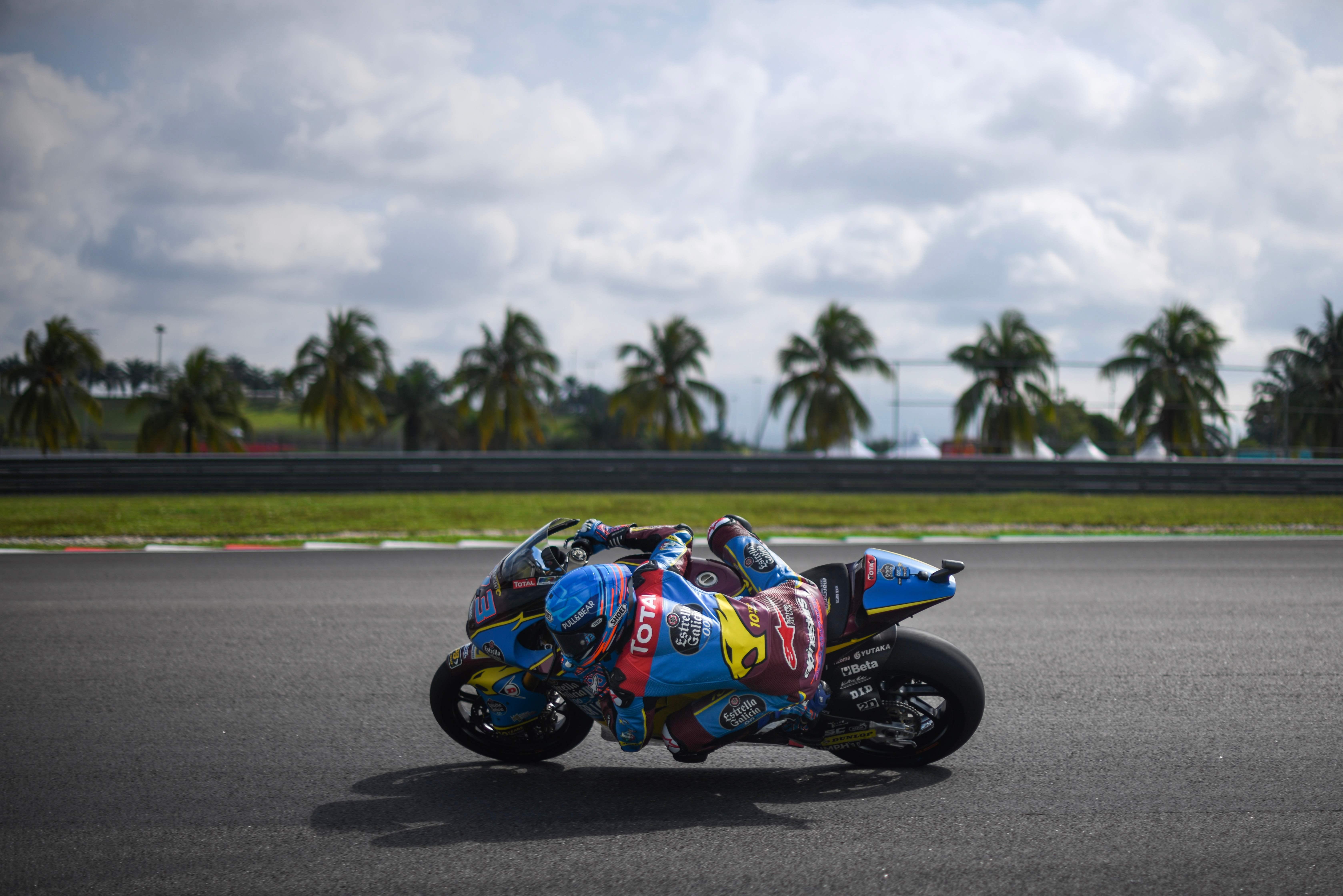 El piloto español Alex Márquez en el circuito de Sepang (Malasia).