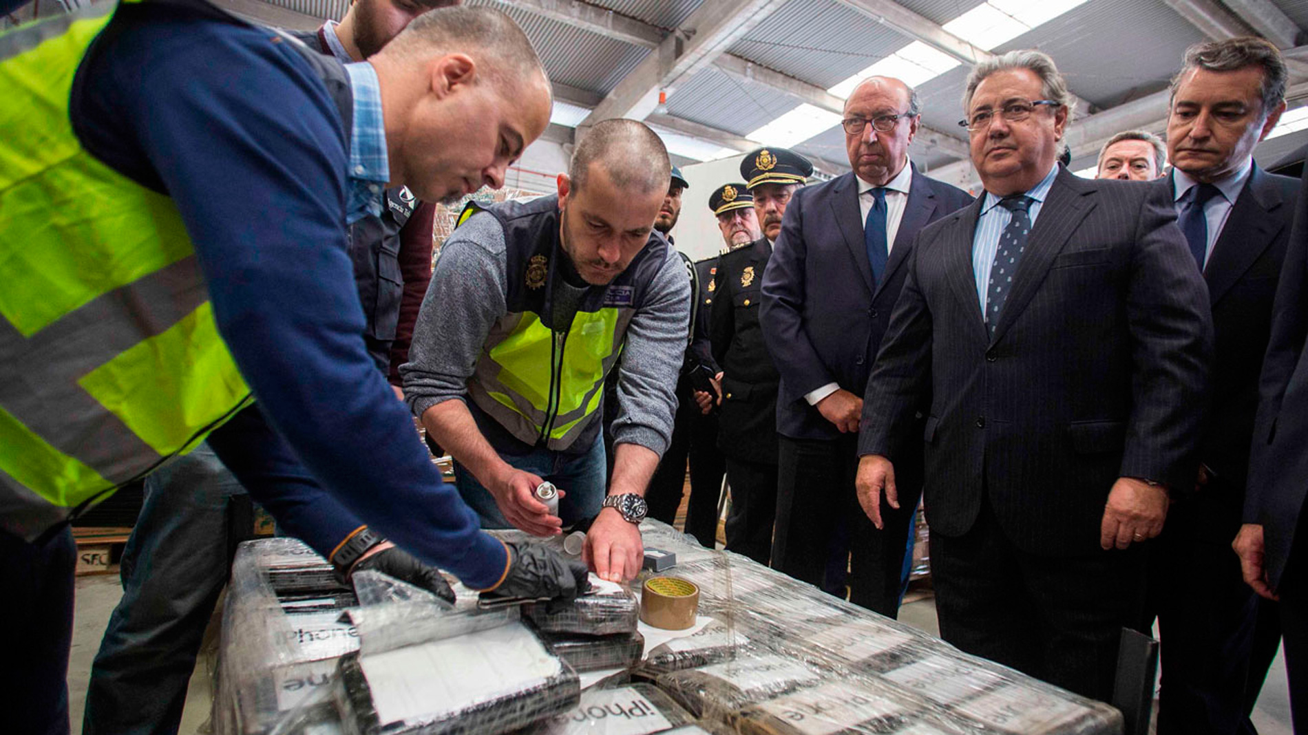 La Policía decomisa en Algeciras el mayor alijo de cocaína incautado en un contenedor en Europa