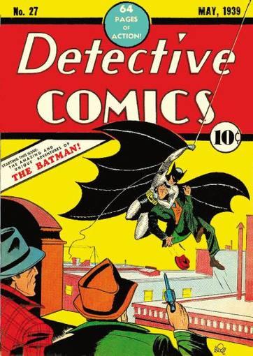Portada de 'Detective comics, 27' (1939), la primera aparición de Batman