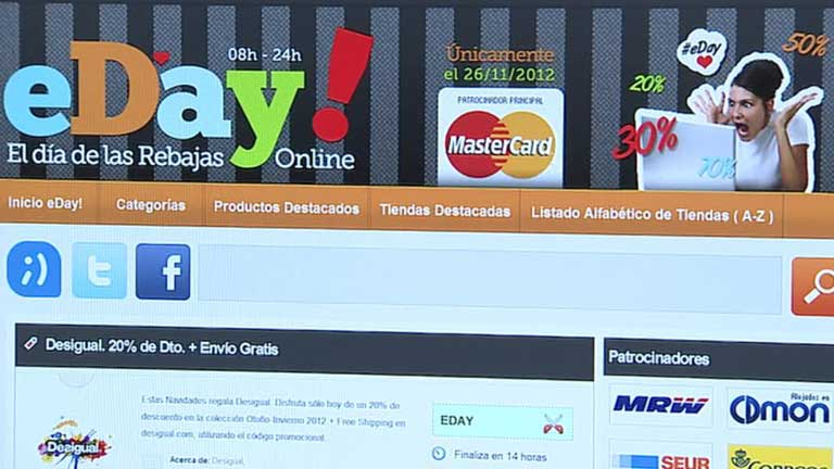 Hoy se celebra el eDay, un día de rebajas online para páginas españolas