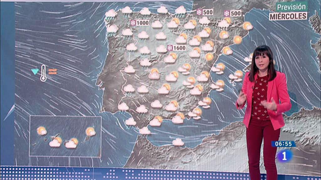 Precipitaciones hoy en casi todo el país, con fuertes vientos en el norte