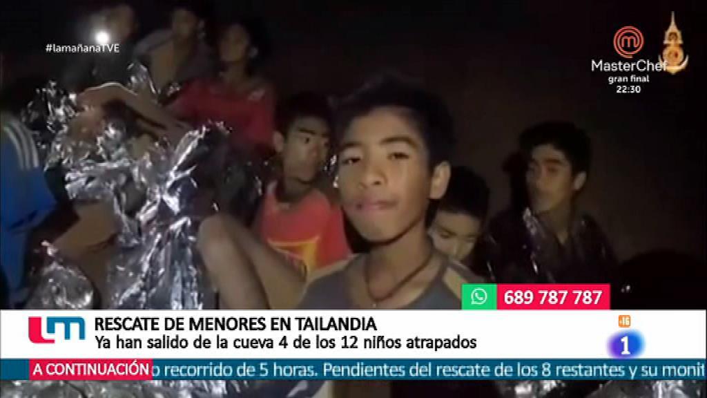 Prosigue el rescate del grupo de niños en Tailandia
