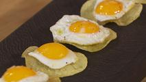 Chips De Patata Con Huevo De Codorniz