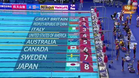 Récord mundial de Regan Smith en el 100 espalda y de EE.UU. en 4x100 estilos