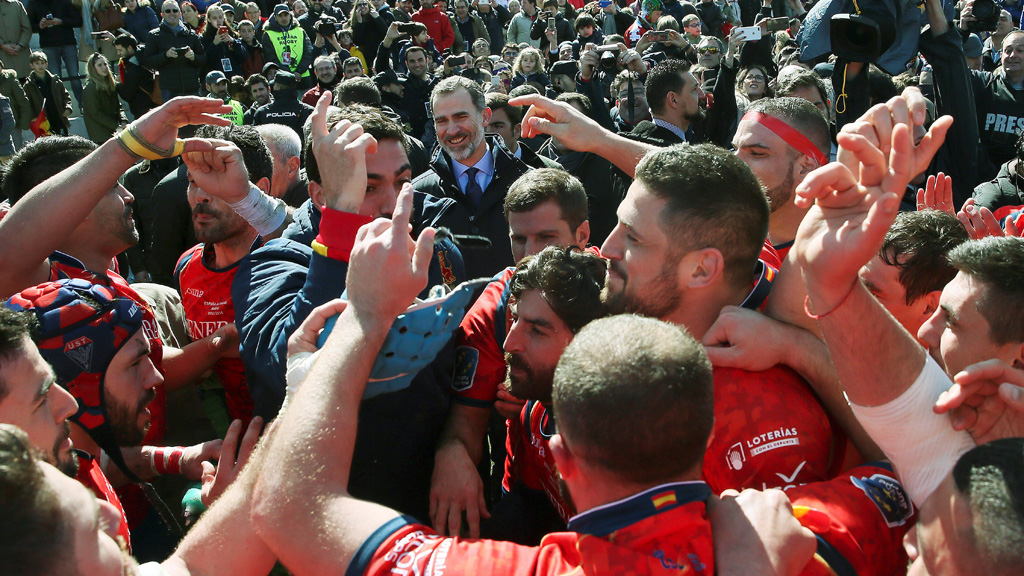 El Rey asiste a la celebracion de la selección de rugby