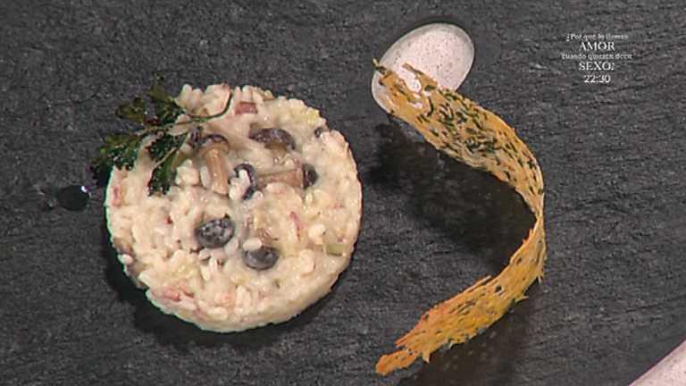 Cocina con Sergio - Risoto con setas y crujiente de queso