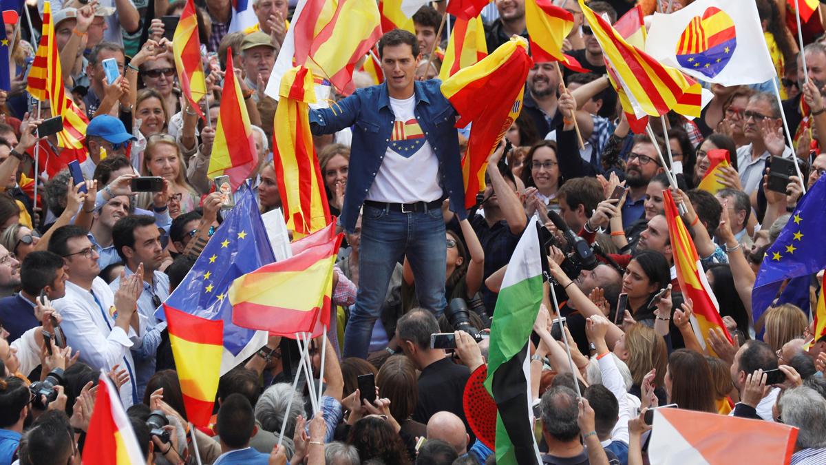 """Rivera pide el cese de Torra: """"No queremos que Cataluña sea un territorio sin ley"""""""
