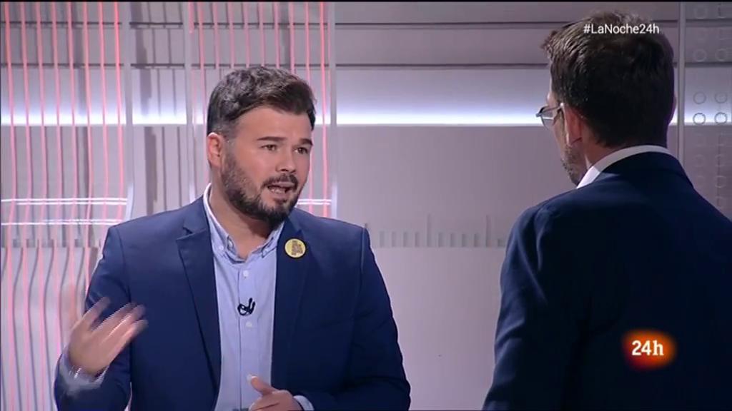 """Rufián: """"Nada justifica la violencia, ni la unidad de España ni la autodeterminación de Cataluña"""""""