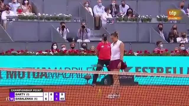 Sabalenka gana el Mutua Madrid Open de tenis