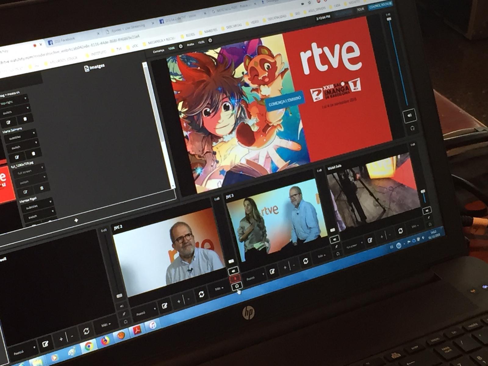 Televisió Española converteix el saló de manga en un laboratori de les noves tecnologies audiovisual