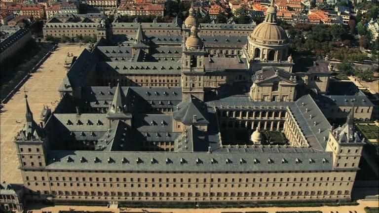 España a ras de cielo - El Monasterio de San Lorenzo de El Escorial