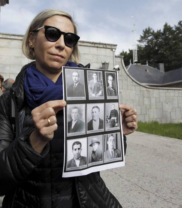Silvia Navarro, presidenta de AFPERV reclama los restos de su tío abuelo, José Antonio Marco Viedma.