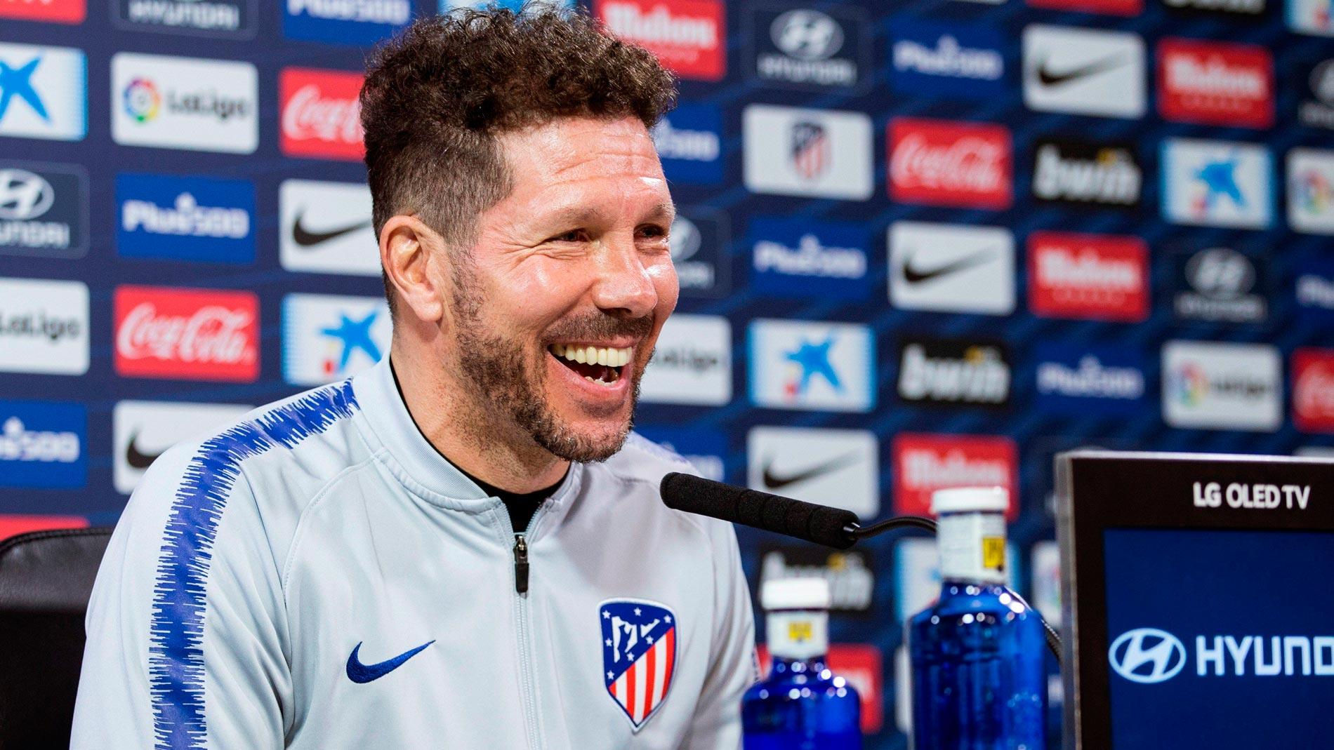 """Simeone: """"Que el Atlético sea segundo y ya no sea tan bueno, es fantástico"""""""
