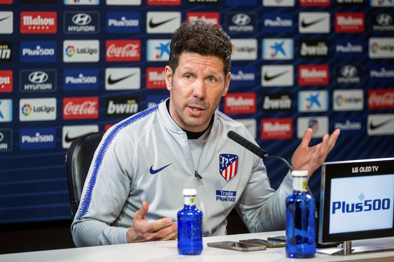 """Simeone: """"Lo que me empuja a renovar son los futbolistas"""""""