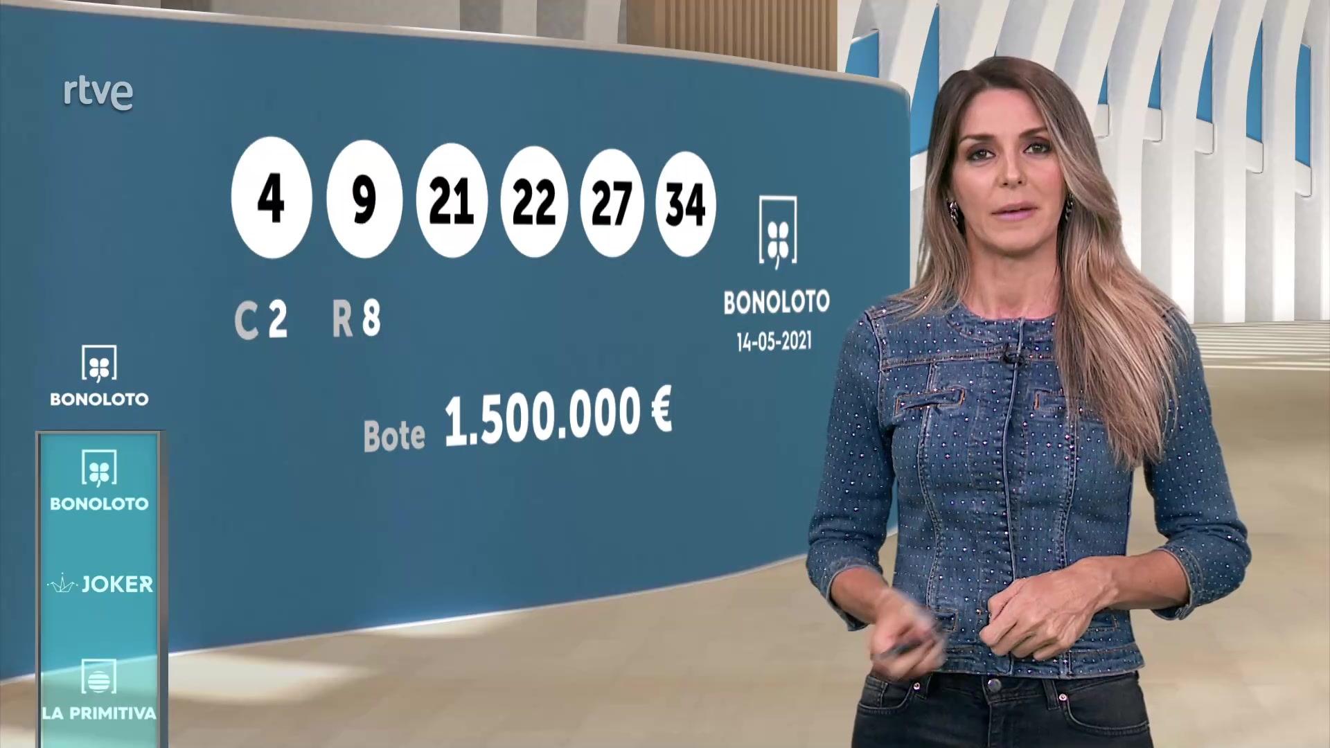 Sorteo de la Bonoloto y Euromillones del 14/05/2021