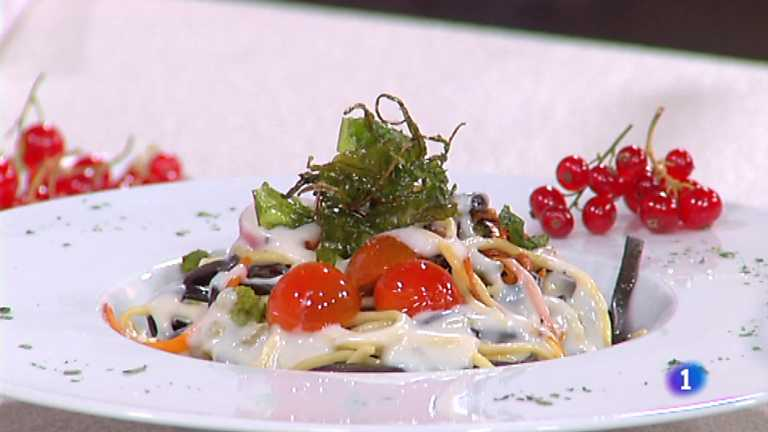Cocina con Sergio - Spaguetti picantes con verduras