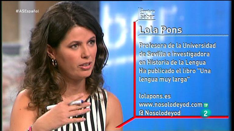 La Aventura del Saber. TVE. Taller de Español. Lola Pons